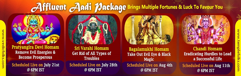 Aadi Velli Rituals - Chandi Homam