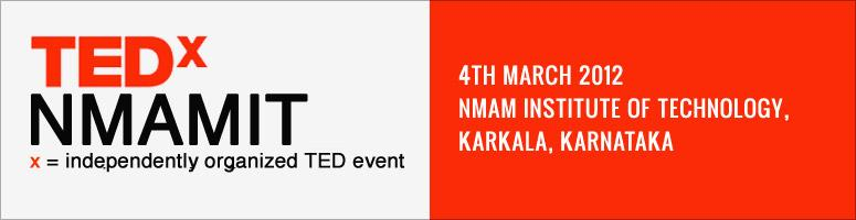 Book Online Tickets for TEDxNMAMIT, Mangalore. ABOUT TEDX, X = INDEPENDENTLY ORGANIZED EVENTIn the spirit of ideas worth spreading, TEDx is a program of local, self-organized events that bring people together to share a TED-like experience. At a TEDx event, TEDTalks video and live speakers combin