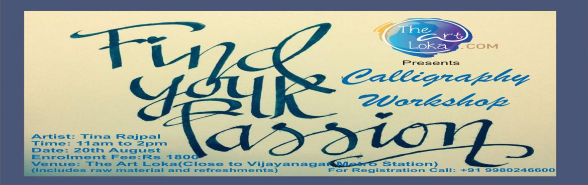 Book Online Tickets for Calligraphy Workshop, Bengaluru.   Calligraphy is a kind of music not for the ears but for the eyes.' It's a visual art related to writing. It is the design and execution of lettering with a broad tip instrument, brush, or other writing instruments.     &n