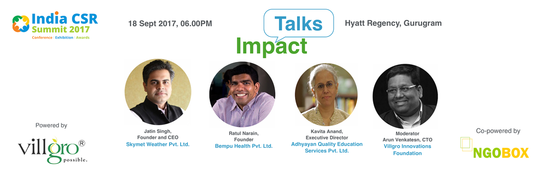 Impact Talks-CSR for Social Enterprises