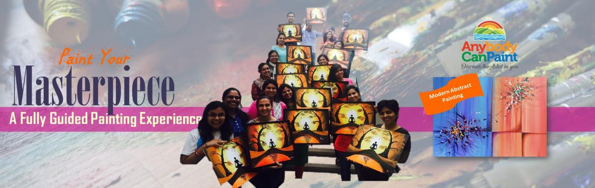 Book Online Tickets for Paint Your Masterpiece - Modern Abstract, Hyderabad.    Would you like to paint this modern abstract masterpiece?   Join in for a 2-3 hours' fully guided painting experience and take home this masterpiece.   Date - Sun 3rd Sept   Time - 10:30am to 01:00pm