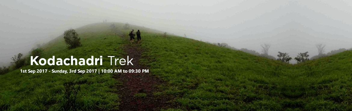 Book Online Tickets for Kodachadri Trek | Plan The Unplanned, Bengaluru. Kodachadri Trek comprises of a complete package of natural beauty - it possesses compact forests, beautiful waterfalls en route, gorgeous jungle trails and picturesque landscapes!Located amidst the Western Ghats of Karnataka, Kodachadri is 1,34