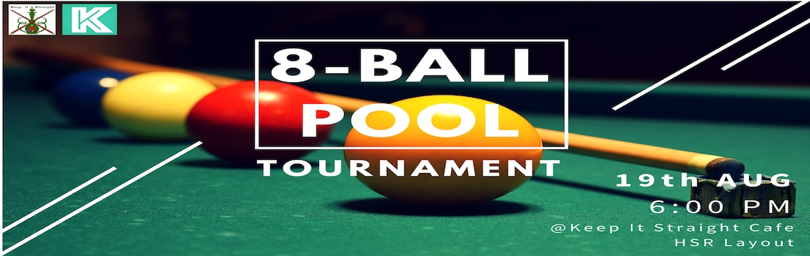 Book Online Tickets for 8-Ball Pool Tournament, Bengaluru.  Learn the secrets techniques of pool and become the ultimate pool champion.   Are you game to make your mark in the Pool Universe? You've come to the right place.   No matter what your skill is, we welcome everyone in this tourn