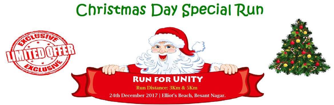 Book Online Tickets for Christmas Day Special Run - Run for Unit, Chennai. Reporting Time 5:30 AM For All Runners: All Registered Participants Will Get.  T-Shirt BIB Number Certificate Bag Finisher Medal Refreshments GIFTS & TROPHIES for 1 st , 2nd & 3rd MEN and Women finishers in 3Km & 5 Km categories
