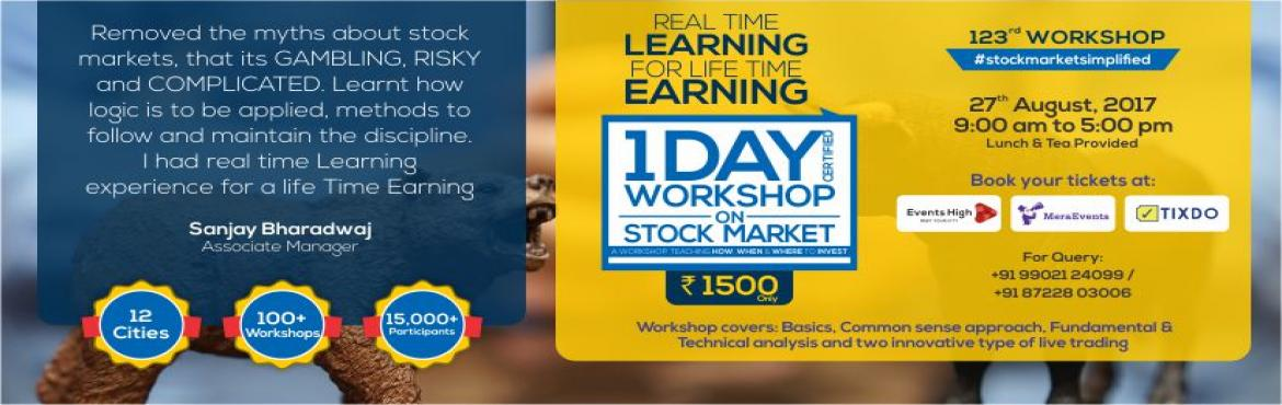 Book Online Tickets for One Day Workshop on Stock Market, Bengaluru.  *123rd Workshop*\