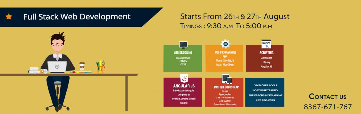 Book Online Tickets for Full Stack Web Development Workshop | AW, Hyderabad. About Full Stack Web Development Workshop by AWA We received many requests from upcoming young professionals and working professionals about Full Stack Web Development training. We exclusively designed two days workshop curriculum to guide and bring
