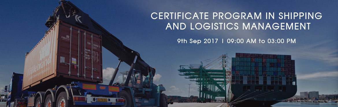 Book Online Tickets for CERTIFICATE PROGRAM IN SHIPPING AND LOGI, Ahmedabad. Topics Covered : -Concept of Logistics and Supply ChainInventory and Stock ControlWare HousingShipping OperationsPort ManagementYard ManagementCFS ManagementTransportation infrastructureStatutes And ObligationsBusiness Finance & Organizational Be