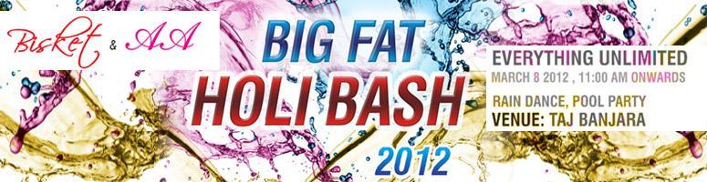 Bisket Big Fat Holi Bash 2012