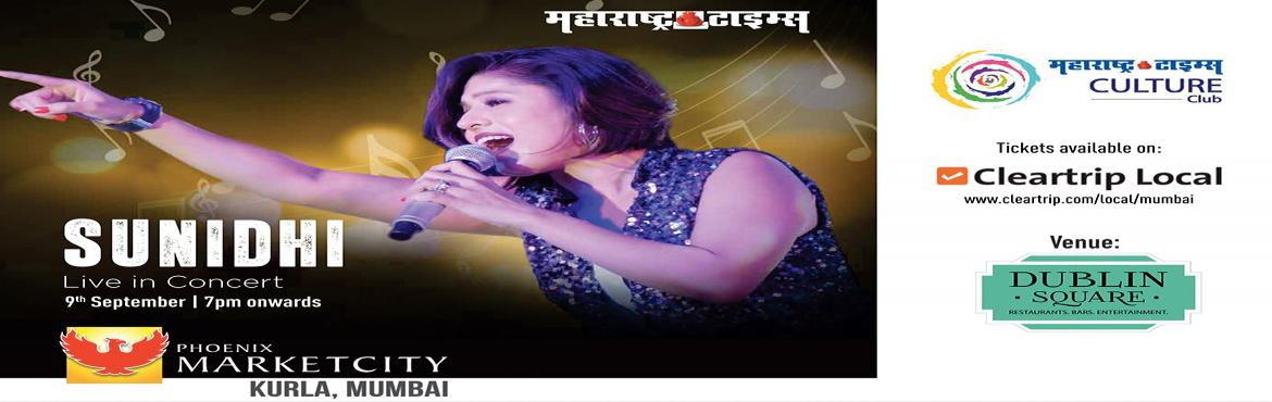 Book Online Tickets for Sunidhi Chauhan Live in Mumbai, Mumbai. Sunidhi Chauhan is an Indian playback singer. Born in Delhi, she began performing in local gatherings at the age of four and made her career debut at the age of 13, with the film Shastra (1996). During the year, she won the first singing reality show