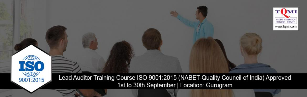 Book Online Tickets for Lead Auditor Training Course ISO 9001:20, Gurugram. ISO 9001 :2015 is the most widely recognized international standard for Quality Management. This comprehensive two days course helps delegates comprehend and realize the requirements of ISO 9001. Complete and ensure your organizational quality m