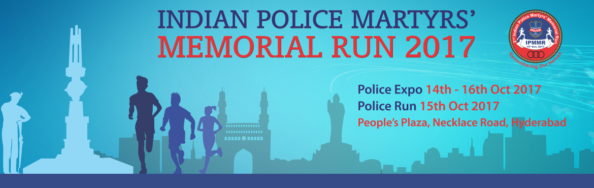 Book Online Tickets for 2nd Indian Police Martyrs Memorial Run, Hyderabad. Telangana State Police is organizing its 2nd Indian Police Martyrs Memorial Run (IPMMR) remembering the brave men and women who sacrificed their life in the line of duty to keep us safe. The event is being organized in association with the Ministry o