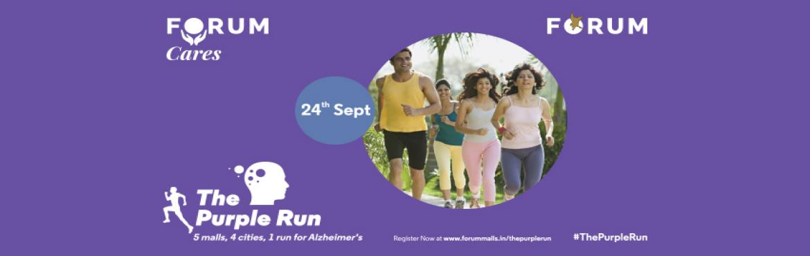 Book Online Tickets for The Purple Run, Chennai. Alzheimer's is the 5th leading cause of death in people over 55 years old, and in India, more than 4 million people suffer from some form of dementia. Despite this, there's a stigma attached to mental illness amongst us. The Purple