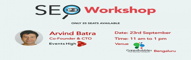 SEO Workshop-Bengaluru
