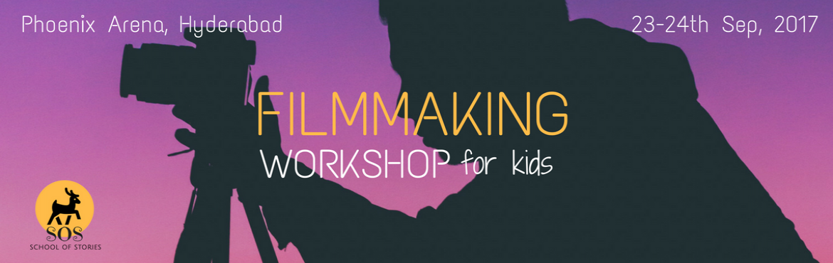 Book Online Tickets for Introduction to Filmmaking Workshop for , Hyderabad. **Last Day to Book Online** **Limited Seats left** Want your child to communicate effectively? Most of the communication in today\'s world is visual. But academia continues to focus on the written word. It is important to teach the child 21st century