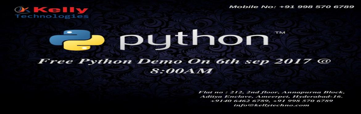 Book Online Tickets for Become Python Programming Developer by a, Hyderabad.   Python Developer are in a high rise and it is the most popular object oriented language which is fast to learn and easy to deploy. It is the open source and powerful dynamic programming language used in a variety of applications.   Python