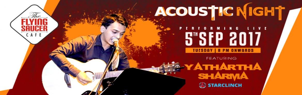 Book Online Tickets for Yathartha Sharma Live at The Flying Sauc, New Delhi. Yatharth Sharma is a professional singer based out of the capital city of India, New Delhi.   He has learnt classical vocals for more than 16 years.   He is currently working as a Marketing Manag