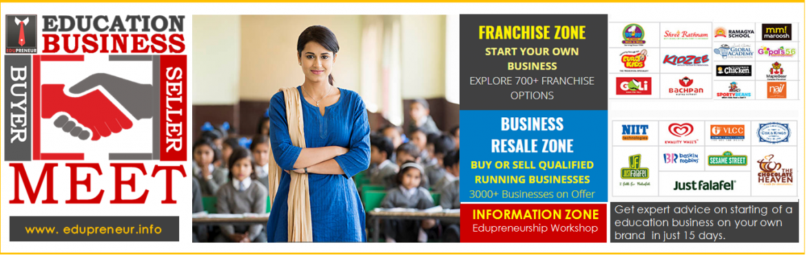 Book Online Tickets for Education Business Opportunity Meet in I, Indore. EVENT OVERVIEW Education Business Buyer Seller Meet is a one 2 one knowledge & information sharing session for Entrepreneurs of Education & Training Industry. If you are planning to start a new education business on your brand name, or