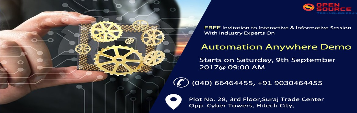 In order to help the aspirants in gaining complete hold of Automation job oriented concepts, the Open Source Technologies has started offering Automat