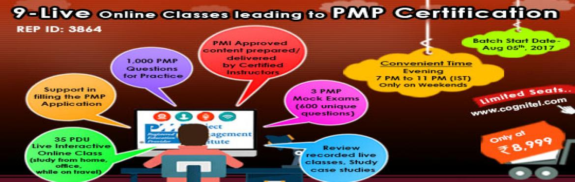 Book Online Tickets for PMP Preparatory Workshop (LVC), Gurugram.   Cognitel is starting the Live Virtual training on PMP Prep, from October 7th, 2017. The classes shall be live but on the internet cloud (~Skype sessions).  The classes shall be executed only during the weekends (IST) – 1900 hours to 2300