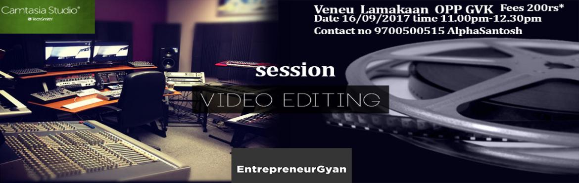 Book Online Tickets for Video editing quick workshop, Hyderabad.   Video & Audio Editing Course on Camtasia studios, we are doing a quick course on how to edit video and audio through Camtasia software. fees is 200rs  This is a quick  course on video  editing basic and how to use the tools