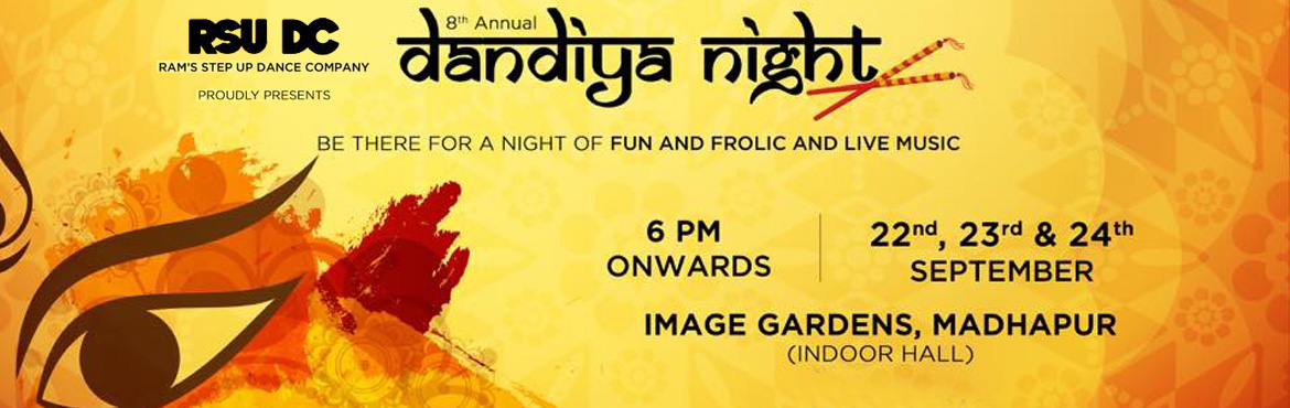 Book Online Tickets for Dandiya Night 2017 by RSUDC, Hyderabad. RSUDC is back! With the biggest dance event ever of the year. After the immense success of Dandiya night for past7 years......we had to make it bigger this time. Bigger it is......get ready for 3 days of non-stop fun, excitement and amazing dan