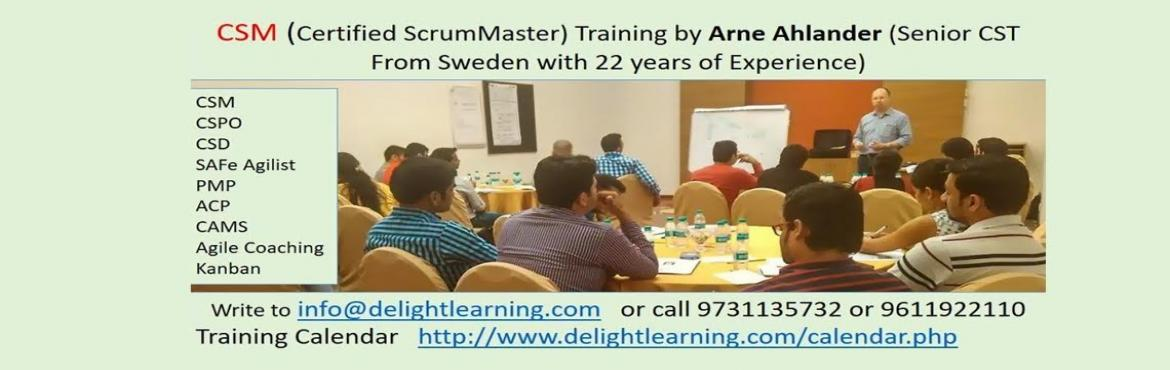 Book Online Tickets for Certified Scrum Master Training by Arne , Gurugram.  OVERVIEW  Scrum is a framework for developing and sustaining complex products. This definition consists of Scrum's roles, events, artifacts and the rules that bind them together.Ken SchwaberandJeff Sutherland&nbsp