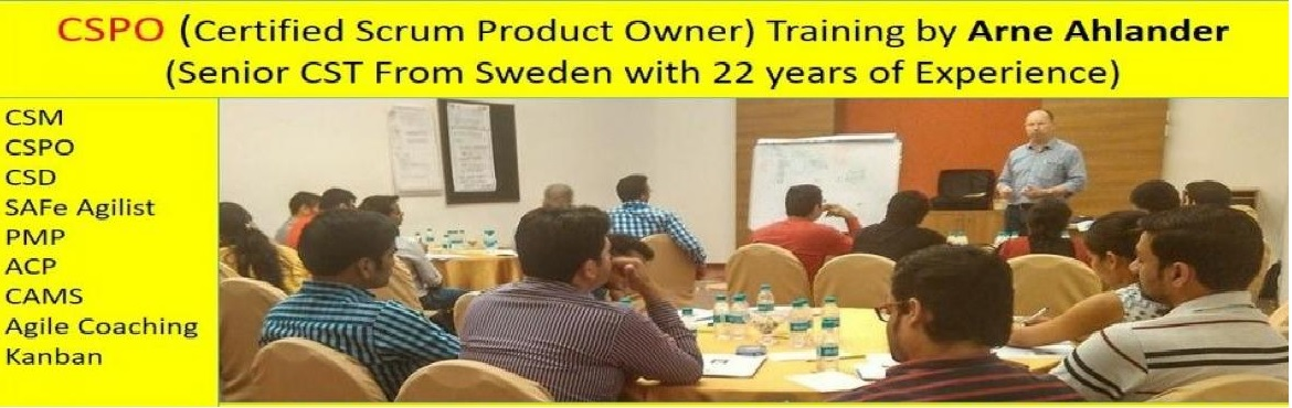 Book Online Tickets for Certified Scrum Product Owner (CSPO) Wor, Bengaluru.  About CSPO Workshop by Arne Ahlandar (Senior CST with 22 years of Global Experience)    CSPO Workshop Highlights   This 2-day Product Owner Certification Training will prepare participants for mastering the most difficult role in