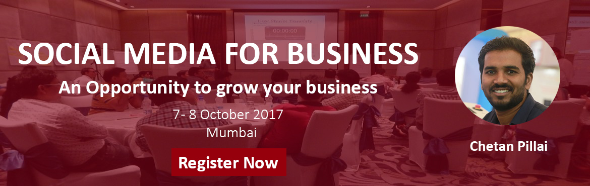 Book Online Tickets for SOCIAL SELLING FOR BUSINESS, Mumbai. How Social Media Marketing Can Help Grow Your Business:- If you're a business owner, chances are you've already considered using social media marketing to help get the word out about your business. In fact, 82% of small business owne