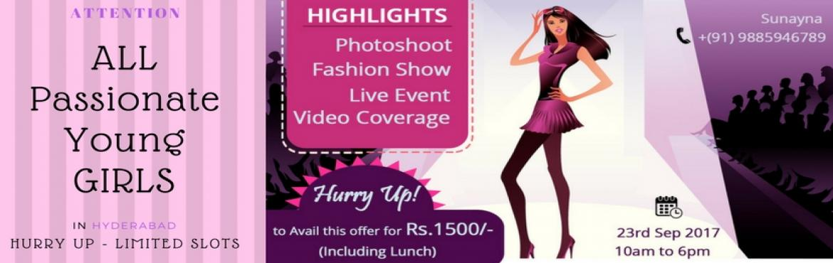 Book Online Tickets for Photo Shoot cum Live Fashion Show Event, Hyderabad. Are you the one for whom the fashion world is waiting for long? If you feel so, don\'t miss the chance to take part in the live event which is going to held by OPEN DG with the support of HYDERABAD EVENTS Get stunning clicks with the most r