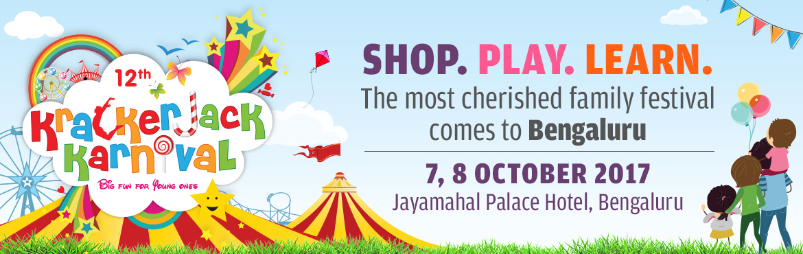 Book Online Tickets for 12th Krackerjack Karnival 2017, Bengaluru.  India\'s biggest kids and family festival, Krackerjack Karnival, is back for the 3rd time in Bengaluru, Karnataka. The third edition of Krackerjack in Bengaluru, and the 12th overall, will be held on 7th and 8th October 2017 at the Jayamahal Pa