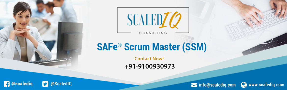Book Online Tickets for SAFe Scrum Master (SSM) Certification v4, Hyderabad. In this two-day course, attendees will gain an understanding of the role of a Scrum Master in a SAFe enterprise. Unlike traditional Scrum Master training that focuses on the fundamentals of team-level Scrum, the SAFe Scrum Master course explores the