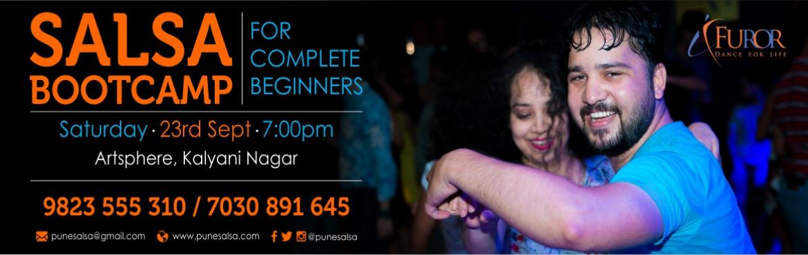 Book Online Tickets for SALSA Bootcamp for COMPLETE BEGINNERS_Ka, Pune. Registrations Open for our Salsa Bootcamp - For Complete Beginners Date: 23rd Sept 2017 (Saturday)Time: 7pmVenue: Artsphere Pune, 402, Fourth Floor, North Court Building, North Avenue Road Number 12, Near Jogger\'s Park, Above Cafe Colombia, Kal