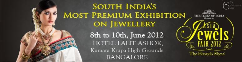Book Online Tickets for Times Asia Jewels Fair 2012, Bengaluru. Times Asia Jewels Fair 2012 at Hotel LaLiT Ashok – An exquisite and most sought after event brought to you by The Times of India group & Introduction Trade Shows Pvt.Ltd which will be a platform to deliver the real value of jewels by succes