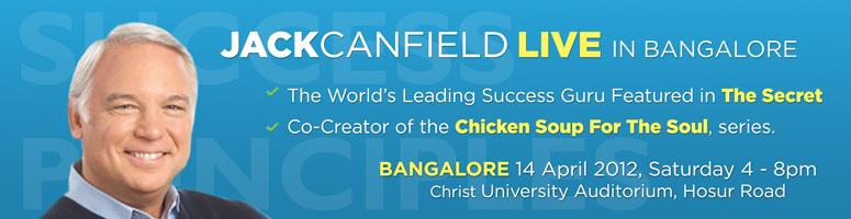 JACK CANFIELD LIVE - THE SUCCESS PRINICIPLES at Bangalore on 14th April 2012