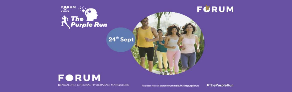 Book Online Tickets for The Purple Run, Hyderabad.  Alzheimer's is the 5th leading cause of death in people over 55 years old, and in India, more than 4 million people suffer from some form of dementia. Despite this, there's a stigma attached to mental illness amongst us. The Purple