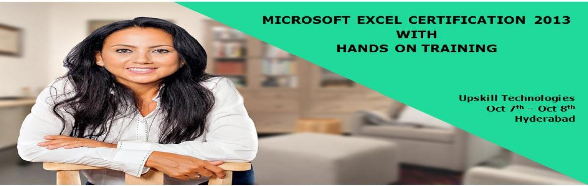 "Book Online Tickets for Microsoft Excel Certification with Hands, Hyderabad.  * 135000 Jobs listed on Indeed.com when searching for ""Microsoft Office."" It's one of the most demanded skills. * 90% of the hiring managers consider certification as part of their hiring criteria. *89% of"