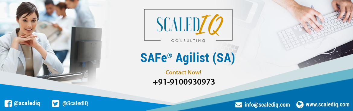 Book Online Tickets for SAFe Agilist Certification v4.5 Training, Hyderabad.  The SAFe® Agilist certification is especially designed for agile leaders, project, program and portfolio managers who work in a scaled agile set-up. The SAFe Agilist certification program is for executives, managers and Agile change agents