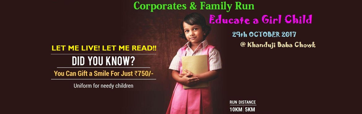 Book Online Tickets for Run for Educate a Girl Child, Pune.  LET ME LIVE! LET ME READ!! is a voluntary  group working for the economically weaker sections of Indian society with special focus on Food,  Education, Health and Women Empowerment in socioeconomically marginalized, tribal and indigen