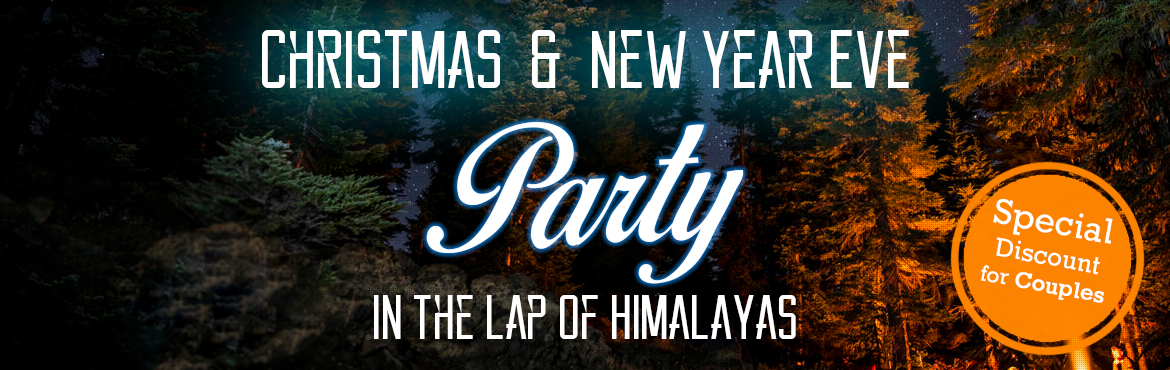 Celebrate Christmas and New Year Party in the woods