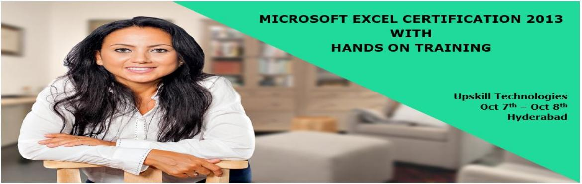 """Book Online Tickets for Microsoft Excel Certification with Hands, Hyderabad.  *135000Jobs listed on Indeed.com when searching for """"Microsoft Office."""" It's one of the most demanded skills.  * 90%of the hiring managers consider certification as part of their hiring criteria."""