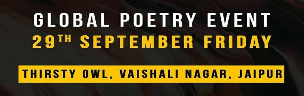 Book Online Tickets for 100 TPC Global Open Mic Poetry (Jaipur C, Jaipur. On the last weekend of September, Jaipur will proudly become a part of the global event of change with words and poetries.100 Thousand Poets for a Change (global) invites all the poets from all genres and languages to come and unite with