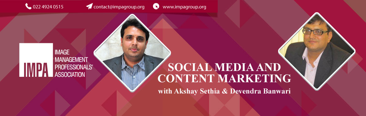 Book Online Tickets for Social media and content marketing, Ahmedabad. About the expert     Akshay Sethia, Founder Director & CEO of Dezine Brainz Digital Pvt. Ltd. and a professional with experience of over 18 years with in-depth industry knowledge, exhaustive global exposure, exceptional organisational understandi