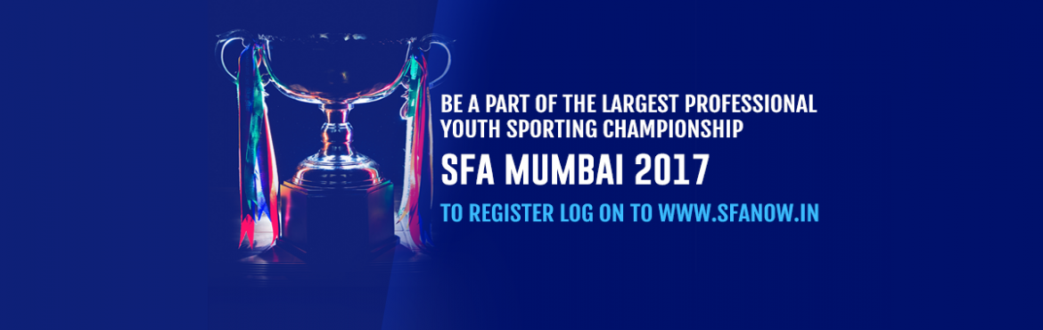 Book Online Tickets for SFA Mumbai 2017, Navi Mumba.  SFA MUMBAI 2017, the biggest Olympic-style inter-school youth sports championship is here! With 25+ disciplines of sport, workshops, clinics, exhibition games, SFA MUMBAI 2017 guarantees to be the best youth sports event in India. Athletes fro