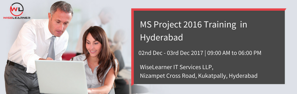 Book Online Tickets for MS PROJECT 2016 Training with best tutor, Hyderabad.   OVERVIEW  Microsoft Project is the most widely used tool for project scheduling across industries. However, due to lack of proper training and knowledge about the capabilities of MS Project, only a small fraction of project managers uses