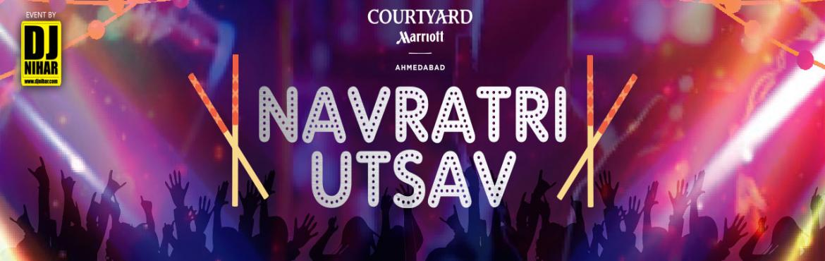 Book Online Tickets for Navratri Utsav at Courtyard by Marriott , Ahmedabad.   About the event      Inclusions:  Air conditioned Banquet hall DJ NIHAR Selfie Booth Prizes & Gifts Kids Zone  Buffet Dinner:    Mocktail Buttermilk Khaman (Starter) Chili Paneer (Starter) Fafda     Palak Koft