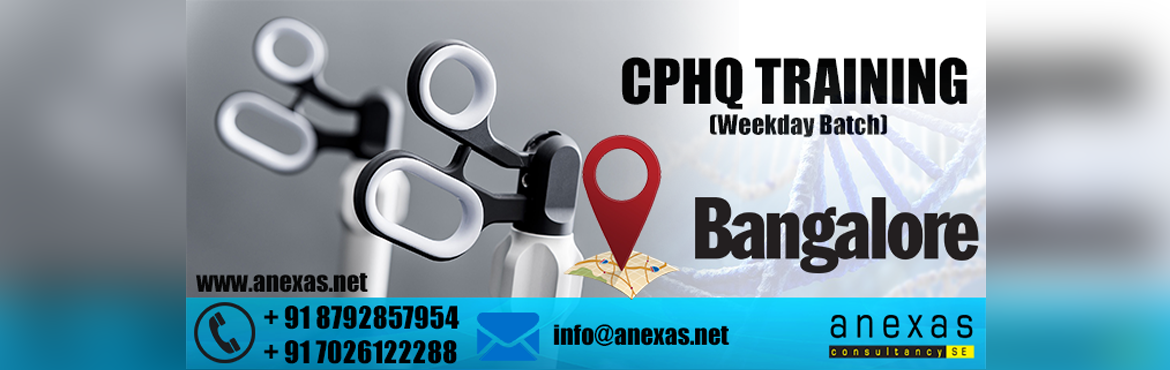 Book Online Tickets for CPHQ Training for Healthcare professiona, Bengaluru. Becoming a Certified Professional Healthcare Quality (CPHQ) could be one of the best career moves for any Physician, Nurse, Healthcare executive or any other member of the healthcare team involved in quality management, performance improvement, risk