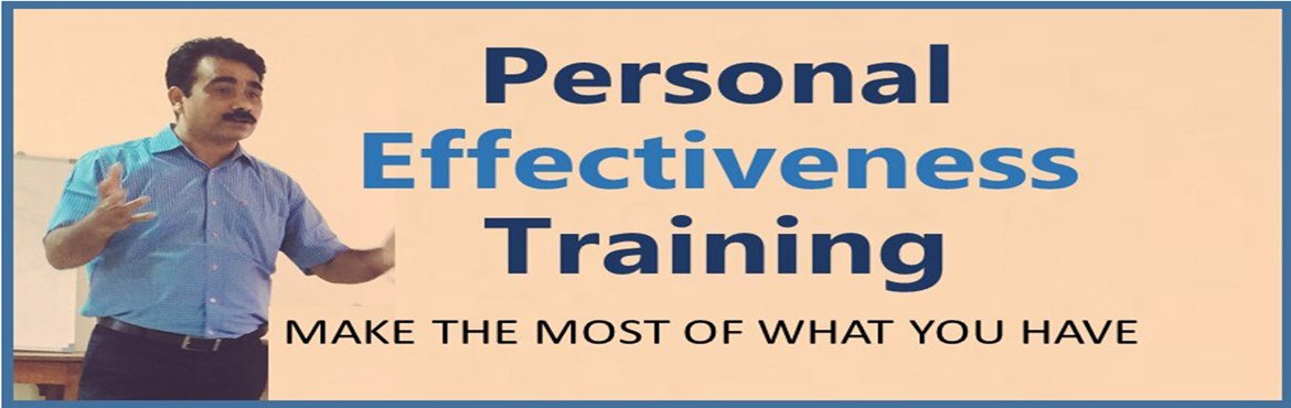 Book Online Tickets for Personal Effectiveness, Hyderabad. Personal Effectiveness is a universal need having which can lead to more control, more focus and more sense of achievement in your life. Developing personal effectiveness is an opportunity for self reflection and assessment of individual ways of oper