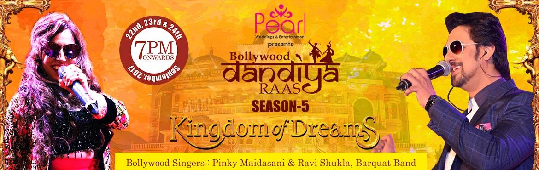 Book Online Tickets for Bollywood dandiya raas season 5 Sep 29th, New Delhi. Brief Synopsis: DANDIYA RAAS 2017 on 29th of September at KINGDOM OF DREAMS\