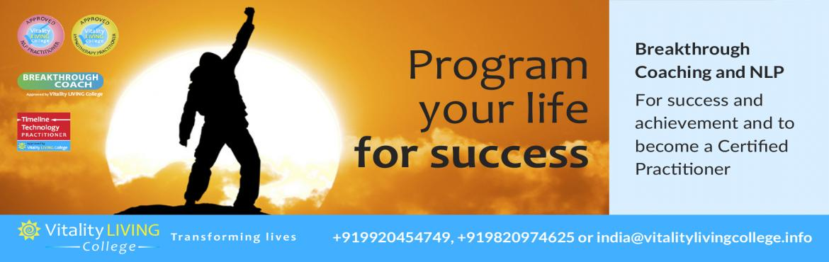 Book Online Tickets for Breakthrough Coaching with NLP with Dr R, Mumbai. Program your life for success or become a coach Breakthrough Coaching with NLP Practitioner   December 6th - 12th 2017 (Wed - Tues) 9am to 8pm Novotel, Balraj Sahni Marg, Juhu Beach, Mumbai 400049, India  Fast track to success with 7 jam-