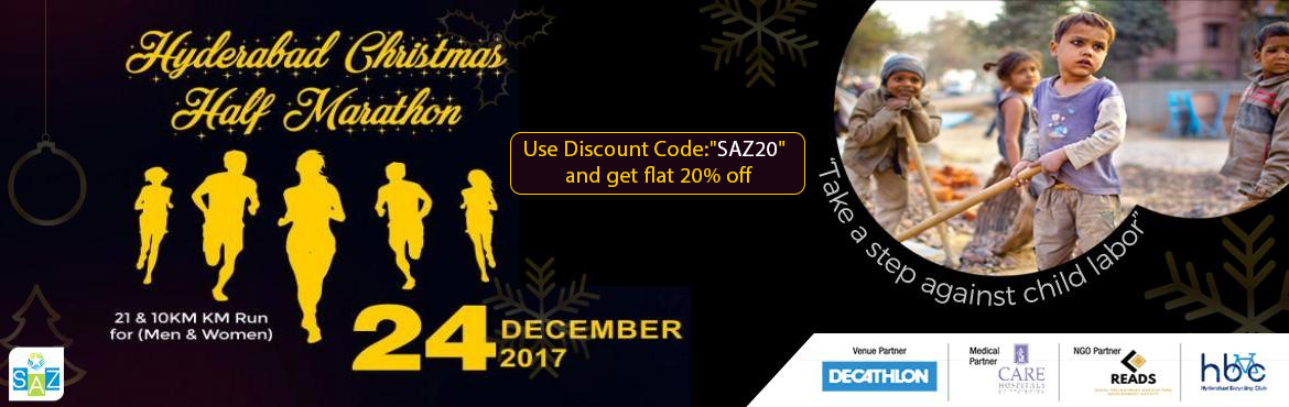 Book Online Tickets for Hyderabad Christmas Half Marathon, Hyderabad. Use coupon \